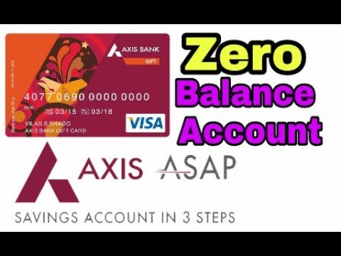 Axis Asap Zero Balance Account How To Open Zero Balance Account