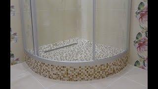 видео Плитка на пол в ванной комнате и кафельная мозаика