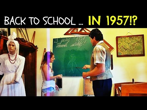 Back to School... in 1957!? | Daily Travel Vlog 161, Bela krajina, Slovenia HD