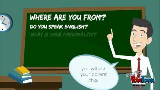 English class: Countries and nationalities test.