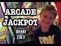 ARCADE JACKPOT with Claw Machines, Arcades, SpongeBob Square Pants Game Kids Hit Jackpot