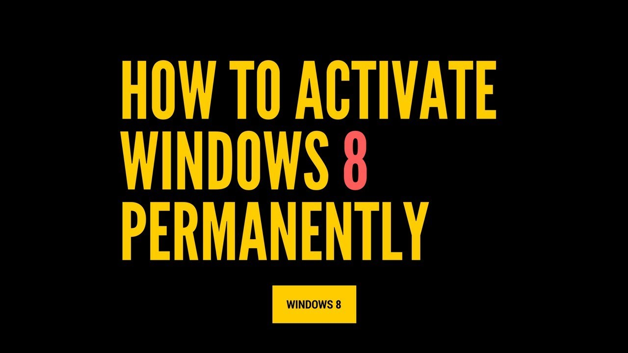 win8 key activation