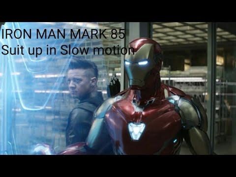 IRON MAN AVENGERS ENDGAME MARK 85 Suit Up In Slow Motion