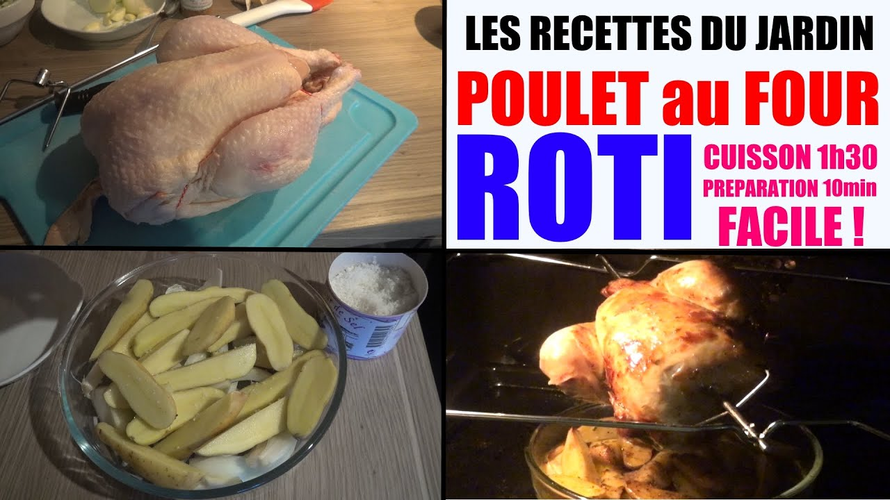 poulet au four roti tournebroche recette cuisson les recettes du jardin n 1 youtube. Black Bedroom Furniture Sets. Home Design Ideas