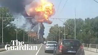 Tanker truck explodes in Bologna, Italy