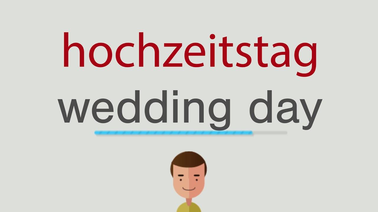 Hochzeitstag Englisch