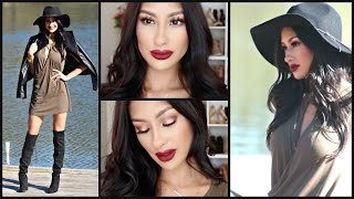 Glam Valentine's Day Makeup, Hair, & Outfit- Complete Look