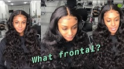 Watch me SLAY this frontal install | How to sew in a frontal