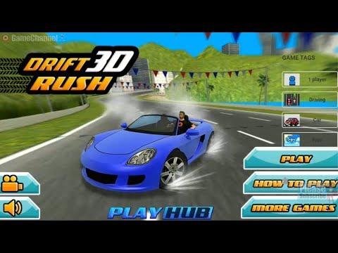 Drift Rush 3D / Super Car Slalom Race / For Children / Browser Flash Games / Gameplay Video