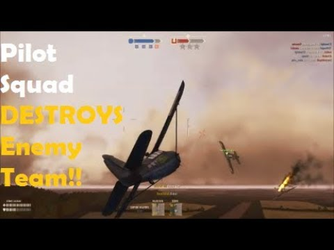 Squad of Pilots DOMINATE Enemy!! Playing With Subscribers - Heroes & Generals Gameplay