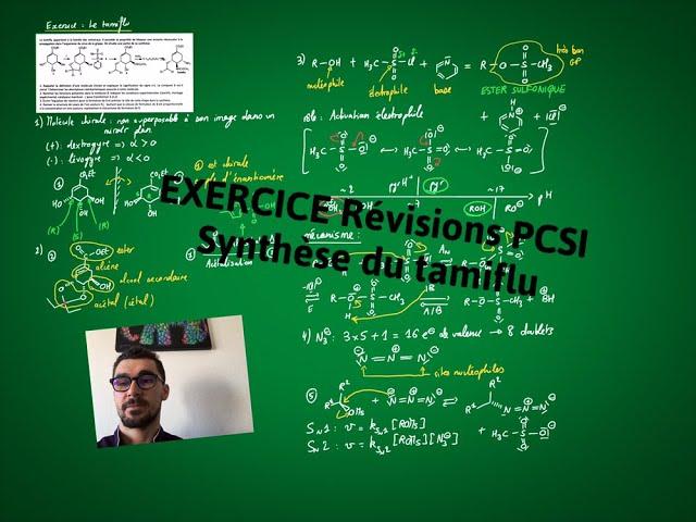 Exercice (révisions PCSI) : le tamiflu