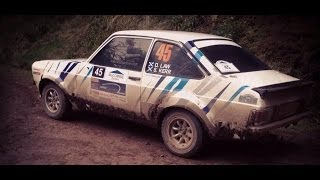 Granite City Rally 2014 stage 01 - Mk 2 Escort - Scott Kerr/David law. In car cam
