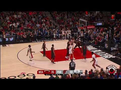 Portland Trail Blazers vs Miami Heat - Full Game Highlights - March 12, 2018