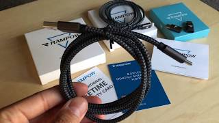 Unboxing Rampow Fabric Braided USB High Speed Cables 2017