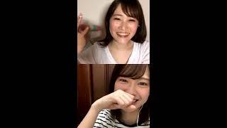 坂本愛玲菜 & 小田えりな (ザ・イーズ)インスタライブコラボ 2.