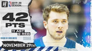 Luka Doncic 42 Pts 11 Ast 9 Reb Full Highlights | Mavericks vs Suns | November 29, 2019 Video