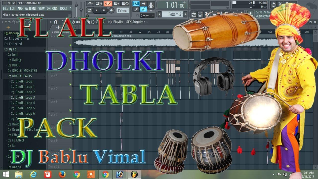 FL ALL DHOLKI,TABLA PACKS FREE DOWNLOAD LINK IN DESCRIOTION BY DJ