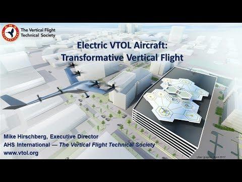 Transformative VTOL Workshop, Session 1: eVTOL Promise & Progress