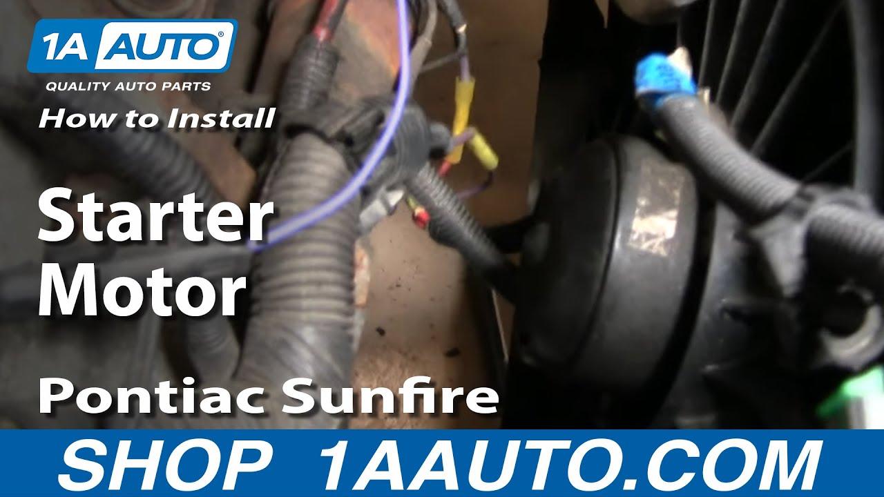 2004 Pontiac Grand Am Wiring Diagram Kenwood Car Stereo Kdc 248u How To Install Replace Change Starter Motor Chevy Cavalier Sunfire 95-05 1aauto.com ...