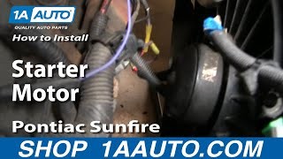 How To Replace Starter 96 98 Pontiac Sunfire Youtube