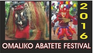 ONE OF THE MOST CELEBRATED AFRICAN FESTIVALS: Omaliko Abatete festival is the greatest in Igbo land.