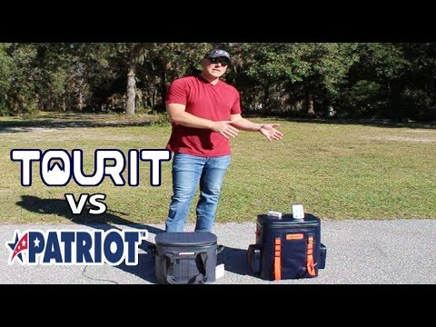 ace725fff Patriot Coolers 20 Soft Sided Vs TOURIT Backpack Cooler - YouTube