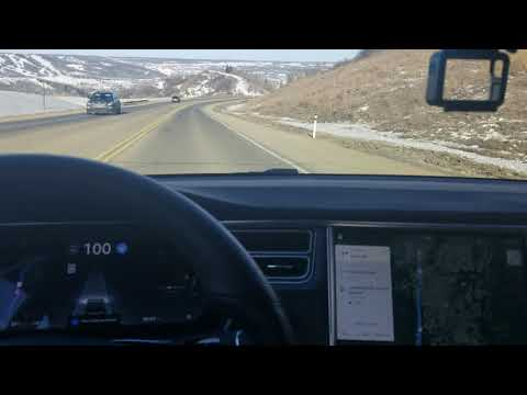 Footage as I approach Peace River, Alberta with AP2 enabled