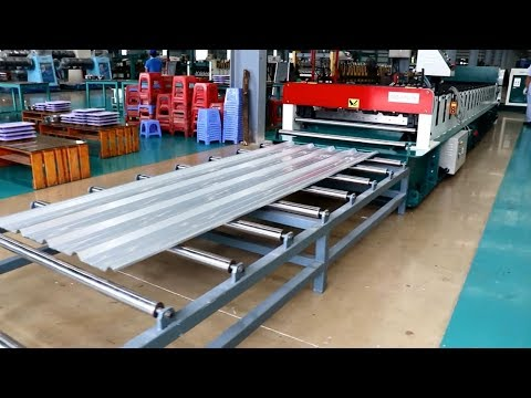 ECO IBR Roofing Sheet Roll Forming Machine Máy Cán Tôn Sóng Vuông