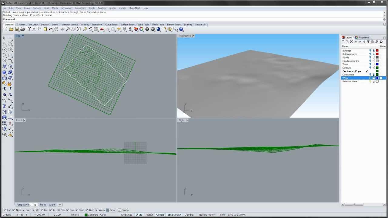 how to create terrain rhino
