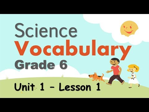 Science Vocabulary | Grade 6 | Unit 1 - Lesson 1