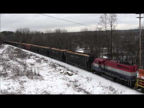 New England Central Railroad 500 and Vermont Railway BDRD on January 19, 2015