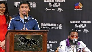 *FULL & UNCUT* Manny Pacquiao vs. Adrien Broner FINAL PRESS CONFERENCE | ShowTime Boxing