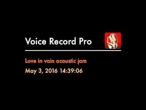 Love in vain acoustic jam