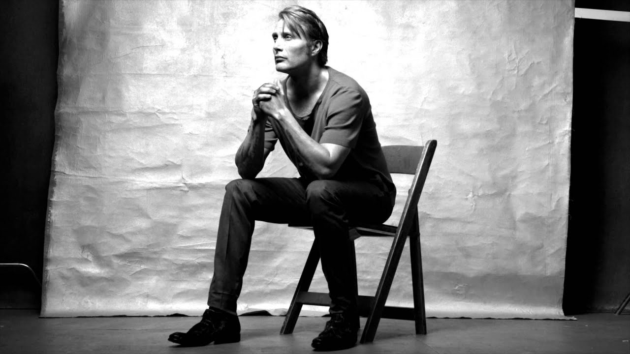 Black And White Feature Wall Wallpaper Mads Mikkelsen Flaunt Magazine Youtube