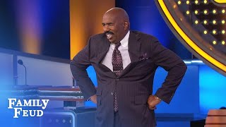 Hospital gowns: Steve OPENS UP! | Family Feud
