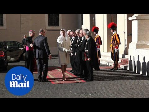 Princess Charlene of Monaco visits the Vatican in all-white - Daily Mail