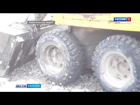 Власти Беломорска отрицают, что асфальт в городе укладывали в снег