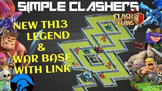 *TROLL NEW TH13 PUSH BASE DESIGN*Anti 2 & 3 Star TH13 Base For LEGEND/TITAN with COPY BASE Link-2020