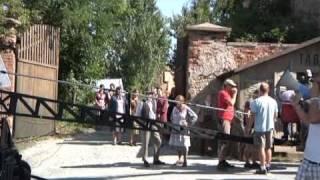 Natáčení filmu Lidice na Chcebuzi u Štětí