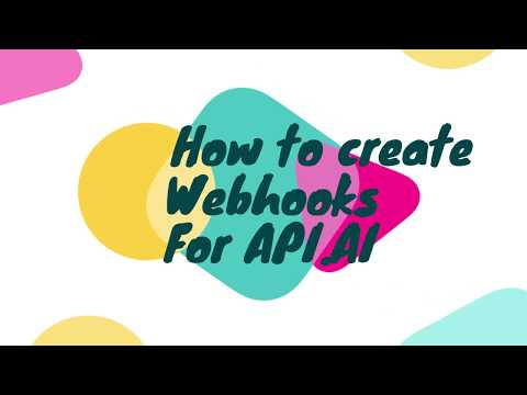 How to create Webhooks for API.AI