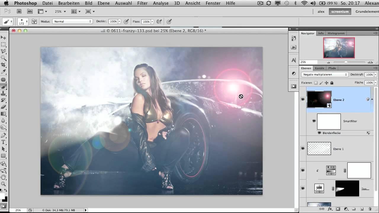 Folge 44 Lichteffekte In Photoshop Erzeugen Youtube