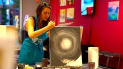 Drinking and Painting at Pinot's Palette Tustin