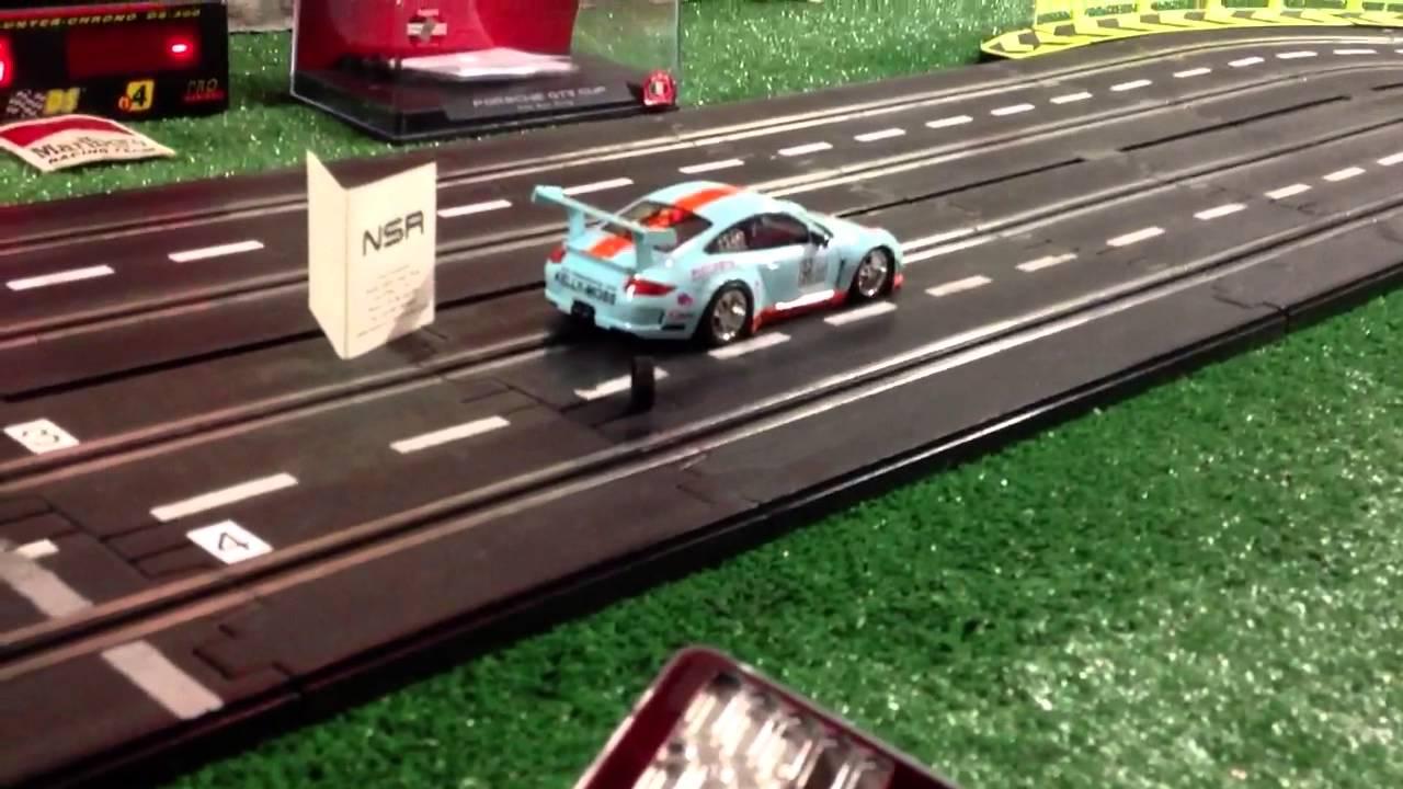 Artin Pro Slot Car Track Nsr Race Car Youtube