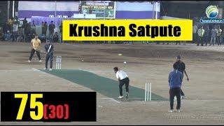 Krushna Satpute Batting | 75 Runs in 30 Ball | Final Match , Hyderabad