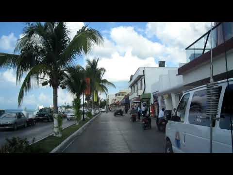 Downtown shopping area Cozumel Mexico Caribbean Sea