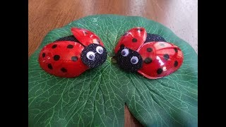 DIY Recycling Ideas - Home Decor - How to Make Ladybug out of Plastic Spoon + Tutorial !