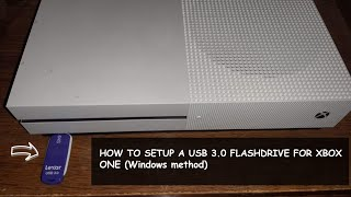 How to set up a USB 3.0 Flash Drive for XBOX One