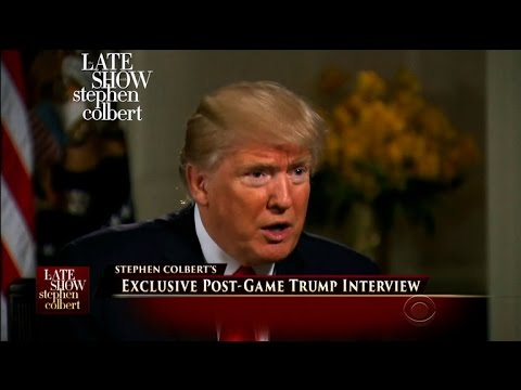 Stephen Colbert's Exclusive Post-Game Interview With President Trump