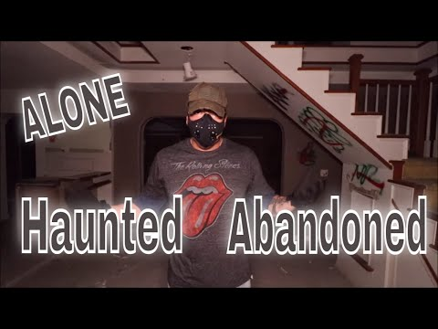 (30 Minute ALONE  Challenge) ABANDONED HAUNTED MANSION AT 2 AM. GIMME SHELTER