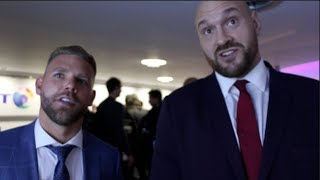 TYSON FURY & BILLY JOE SAUNDERS RAW - 'THE WORST 10st JOURNEYMAN IN ENGLAND WOULD SLAP EDDIE HEARN!'